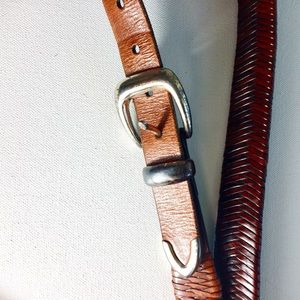 Cole Haan Accessories - Cole Haan Tan Snake Weave Leather Belt Size 32